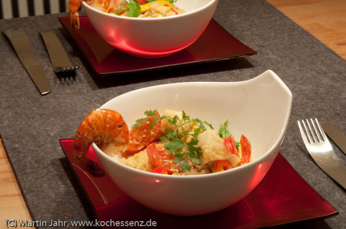 Rotes Fischcurry